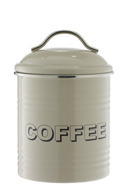 SMITH & NOBEL  Retro canister  coffee taup