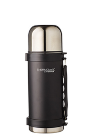 THERMOS THERMOCAFE STAINLESS STEEL VACUUM INSULATED SLIMLINE FLASK MATTE BLACK