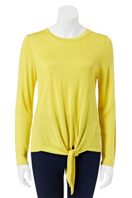 KHOKO COLLECTION Viscose Acrylic Tie Front Jumper