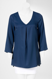 SIMPLY VERA VERA WANG High Low Pleat Front Top