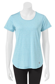 LMA ACTIVE Womens Space Dye Stripe Tee