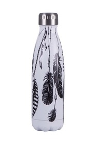 AVANTI  500Ml stainless steel printed bottle feathers