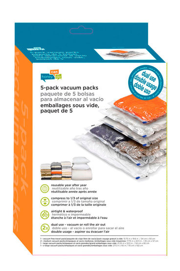 1207043a2f5 HONEY CAN DO 5 PACK COMBO VACUUM PACKS