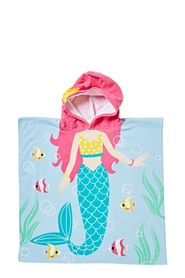 SOREN VELOUR KIDS BEACH PONCHO MERMAID