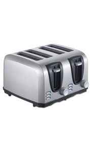 SMITH & NOBEL 4 Slice Toaster Stainless Steel
