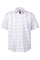 JC LANYON OXFORD CHECK SHIRT 0, WHITE, S