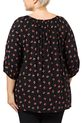 KHOKO DITSY FLORAL BLOUSE, BLK+RED, 22
