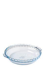 O'CUISINE Glass Pie Dish With Handles 1.3L