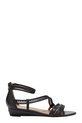 DF MULTI STRP WEDGE SANDAL ZIZ, BLACK, 6