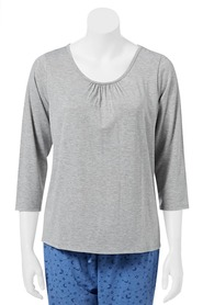 SASH & ROSE Soft round neck long sleeve top