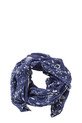 KHOKO MULTI FLORAL SCARF SW00, DENIM, NS