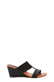 SAVANNAH Sia Mid Wedge Elastic Sandal
