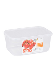 DECOR Tellfresh Plastic Oblong Food Storage Container 1.8 Litre