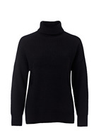 KHOKO COLLECTION Rib Step Hem Pullover