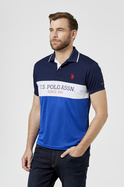 U.S. POLO ASSN. ACTIVE MENS BLOCK BRANDING POLO