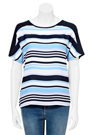 KHOKO SMART Spliced Stripe T Shirt
