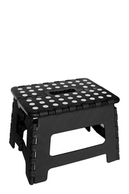 IS GIFT Small Folding Stool Black with White Dots