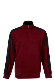 BRONSON QUARTER ZIP FRENCH RIB FLEECE TOP