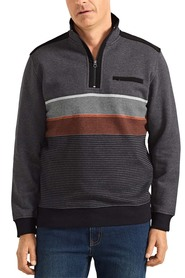 BACK BAY Cotton Rich Engineered Half Zip Fleece Sweatshirt