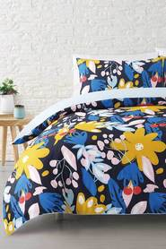MOZI Cherry Blossom Cotton Percale Quilt Cover Set DB