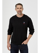 Mens Long Sleeve Cotton Jersey Arm Branding T-Shirt