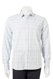 BRONSON Long Sleeve Textured Check Shirt