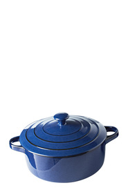 SMITH & NOBEL Reactive Glaze Casserole Blue 24cm
