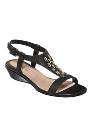 DF SUPERSOFT Chianti Disc Front Leather Sandal