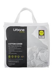 URBANE HOME Cotton Cover Mattress Protector Double Bed