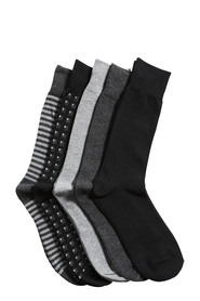 NIC MORRIS 5PK BUSINESS SOCK O8UNS001