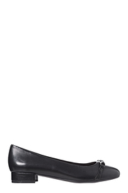 HUSH PUPPIES Dramatic twist detail leather ballet
