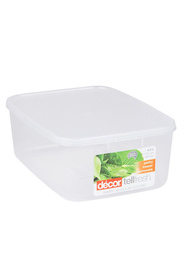 DECOR  Tellfresh Plastic Oblong Food Storage Container 4 Litre