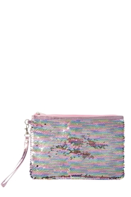IS GIFT Reversible Sequin Accessory Pouch - Pearlescent