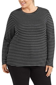 KHOKO COLLECTION Lizzy Supersoft Stripe Top Plus Size