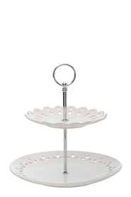 LILLE 2 TIERED CAKE STAND