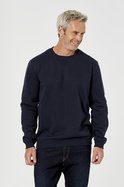 Mens Bowen Plain Crew Neck Fleece Jumper
