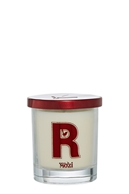 MOZI Glass Vanilla Alphabet Candle Letter R