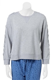 SASH & ROSE WOMENS LACE-UP LOUNGE SWEAT STYLE X8ZS504