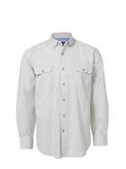 JC LANYON Mens Cotton Suede Touch Twill Work Shirt