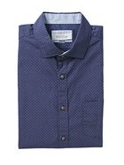 WEST CAPE CLASSIC MENS COTTON CASUAL PRINTED SHORT SLEEVESHIRT