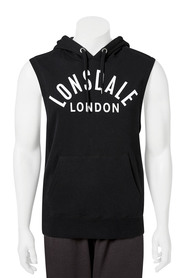LONSDALE Mens aitor sleeve less hoodie