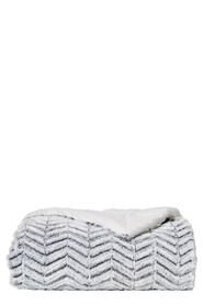SOREN Zuri Chevron Fleece And Sherpa Throw 170x130cm