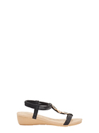 SAVANNAH Maya Mid Wedge Elastic Sandal
