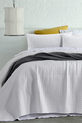 ACCESSORIZE Darcy Washed Microfibre Coverlet Set QB/KB