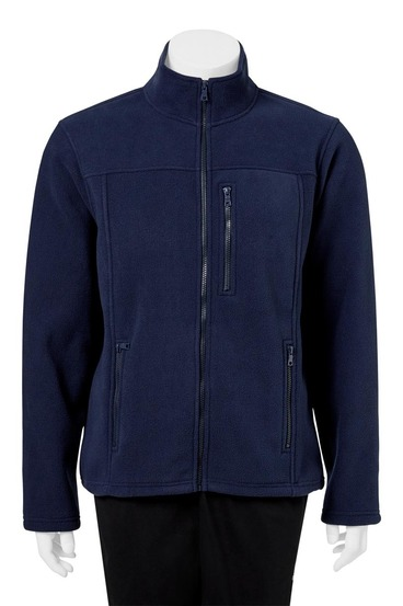 BRONSON Zip Thru Solid Bonded Polar Fleece Jacket | Tuggl