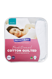 PROTECT A BED Cotton Quilted Waterproof Mattress Protector Db