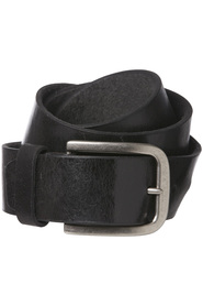 NIC MORRIS Leather Belt With Stitching 38mm