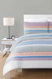 URBANE HOME Olivia 225 Thread Count Polyester/Cotton Quilt Cover Set DB
