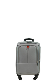 SWISS EQUIP Kotor 61cm 4WD Trolley Case Charcoal