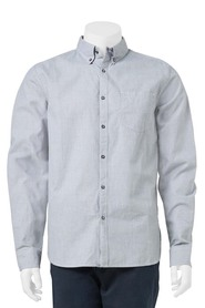 URBAN JEANS CO Dobby Long Sleeve Shirt